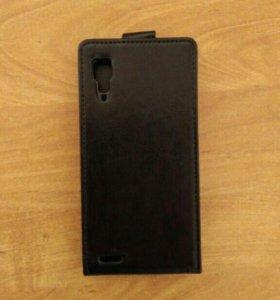 Новый кожаный чехол Lenovo P780