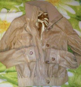 Куртка кожа натуралка,подкладка шёлк