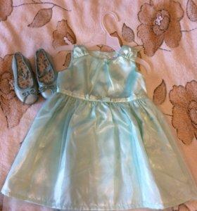 Платье Carters и балетки