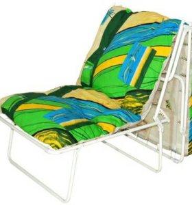 Раскладушка кресло с матрасом