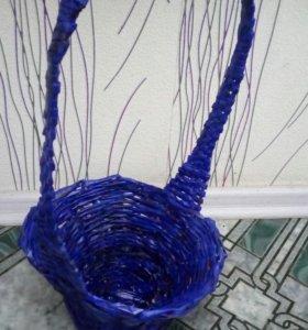Корзина синяя