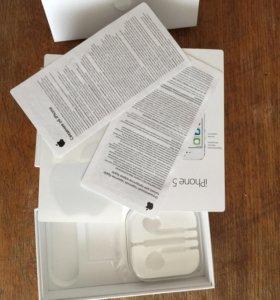 Коробка и документы Iphone 5S 16 space grey