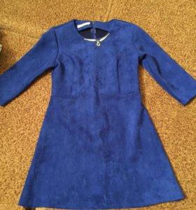 Платье замша