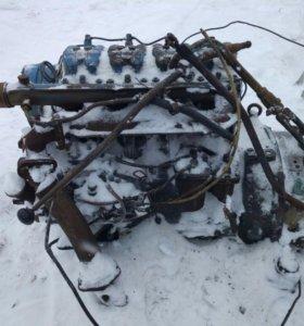 Двигатель Л-144 с коробкой зил