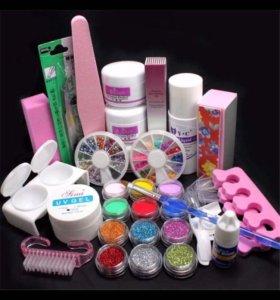 Новый набор для наращивания и дизайна ногтей