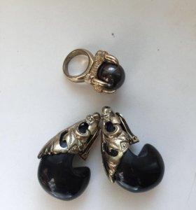 Серёжки и кольцо Asos