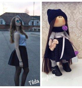 Портретная, текстильная кукла