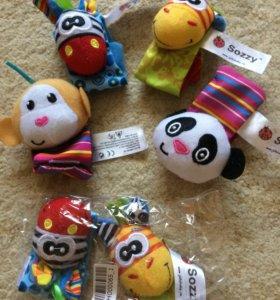 Новые игрушки на запястье и ножку для малышей