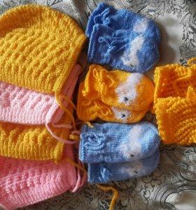 Шапочки, носочки, руковички