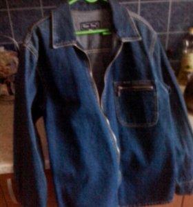Джинсовый пиджак 46р