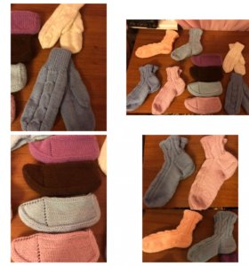 Шерстяные носки, шали, варежки