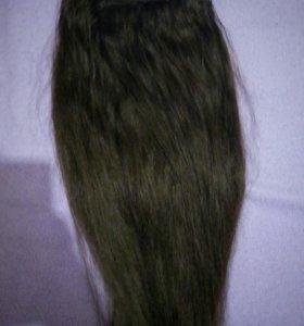 Волосы на заколках, натуральные