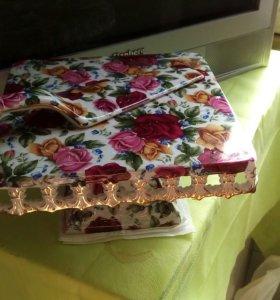 Подставка и ложечка для тортика