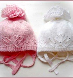 Красивые шапочки для девочек. 40-42 рр