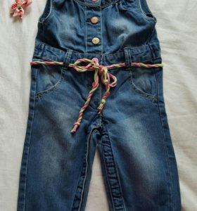 Новый! Комбинезон джинсовый 74-80р