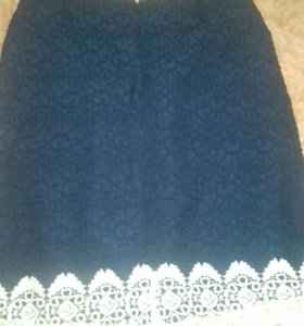 Юбка новая синяя