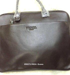 Мужская сумка, натуральная кожа