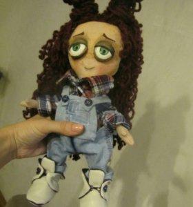 Кукла интерьерная,кукла ручной работы, текстильная