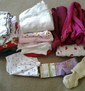 Пакет одежды для девочки 74-80 (22вещи+платье)