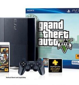 SONY PS3 500GB + игра GTA V