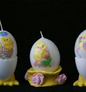 Яйца пасхальные на подставке