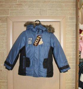 Новая зимняя куртка тм Jicco р-р 122