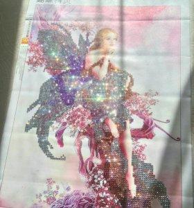 """Картина алмазная мозаика """"фея-бабочка"""""""