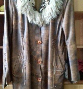 Продам кожаный плащ из натуральной кожи.