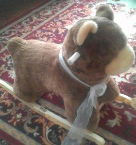Детский медведь качалка