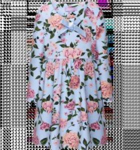 Трикотажное платье с принтом для девочки