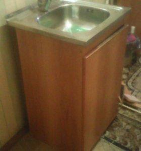 Мойка кухонная из нержавеющей стали с тумбочкой