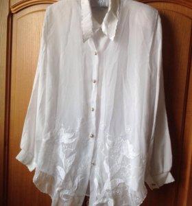 Блузка с жилеткой женская 50р