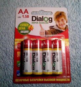 Новые батарейки диалог от местного производителя