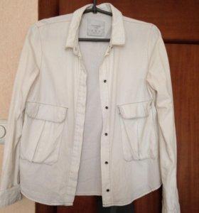 Рубашка Zara джинса