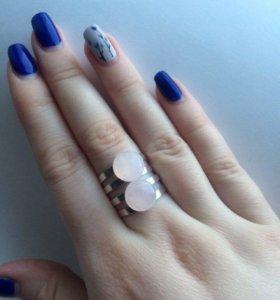 Кольцо с розовым кварцем ( handmade) ( украшения)