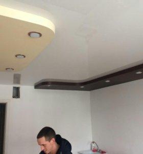 Натяжные потолки любой сложности от 300 за м.кв.