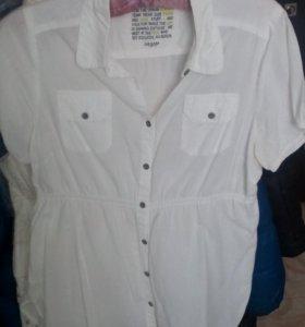 Новая рубашка белая Desam 48 р
