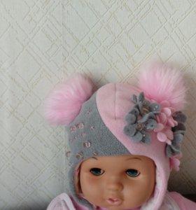 Шапка зимняя малышке