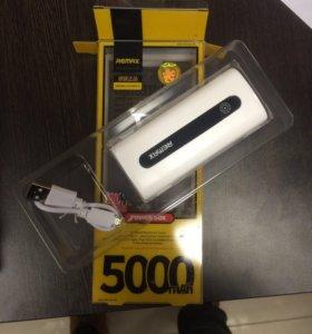 Портативный аккумулятор remax 5000mah