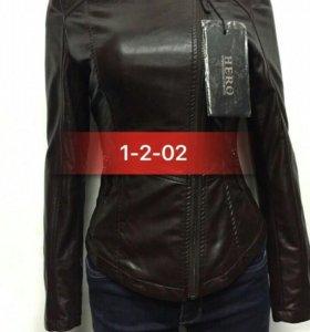 Куртка, экокожа, размер 42.