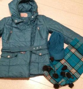 Шарф, кепка и куртка 42-44 р