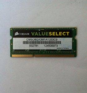DDR3 corsair 8Gb ноутбучная