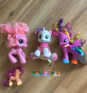 3 большие little pony