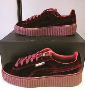 rihanna puma creeper velvet royal👄