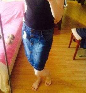 Юбка новая джинсовая стрейч