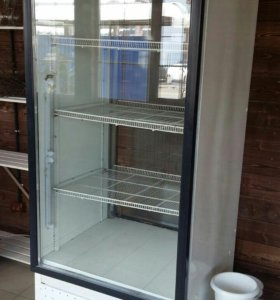 Холодильник-витрина, б/у шире стандарта.