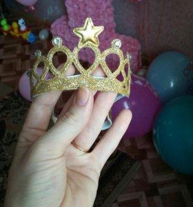 Повязка корона на годик