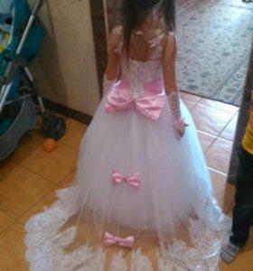 Шикарное платье на выпускной рост 116-130