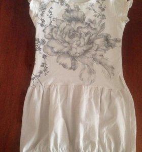 Платье-футболка с болеро рост 110-125