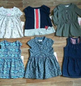 Новые платья на девочку 1-2 года Gloria Jeans